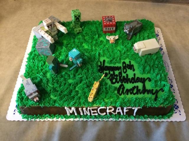 Minecraft Half Sheet Customer Supplies Figures
