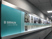 Custom Sign, B. Braun, Edge Lit Sign, Corporate Timeline, Valley Wide Signs