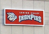 Lightbox Face, Light Box Face, Iron Pigs, Lehigh Valley Iron Pigs, Valley Wide Signs